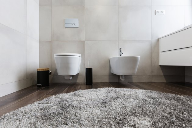 luxury bathroom interior with toilet and  bidet
