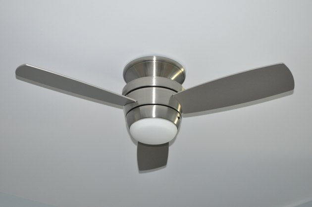Silver metal ceiling fan