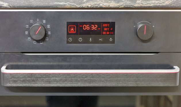 electric oven display closeup