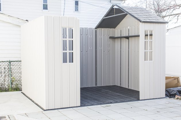 Building a storage shed in backyard