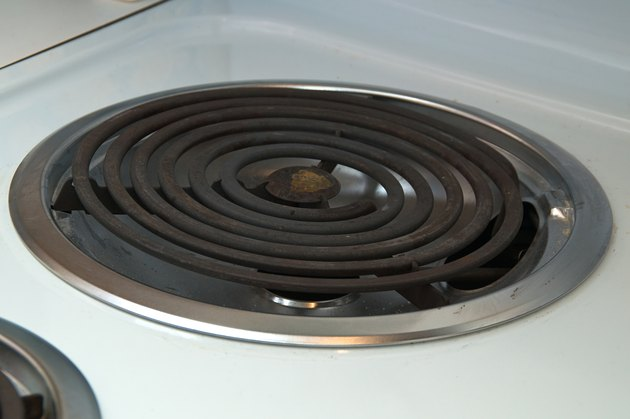 electric heating element on stove