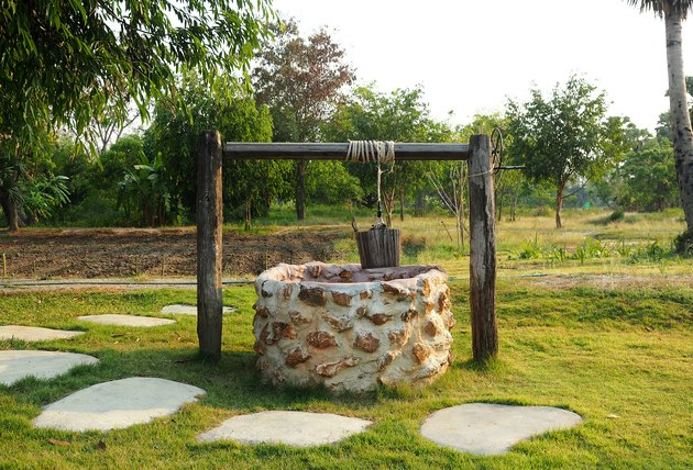 Old countryside water well.
