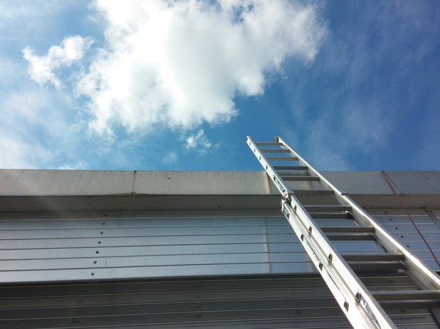 ladder on the blue sky