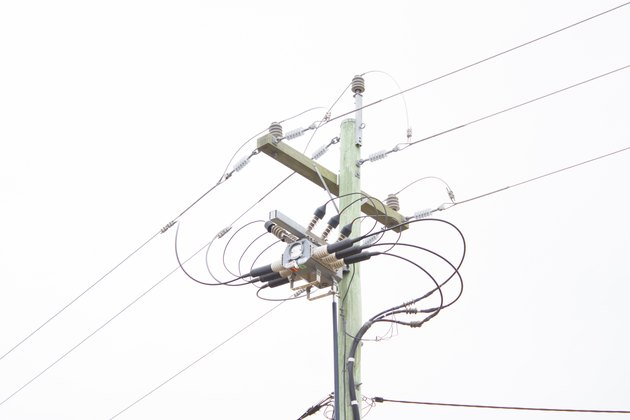 Step-down Transformer on Power Pole