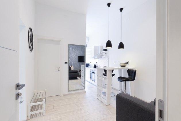 Modern private apartment living room interior
