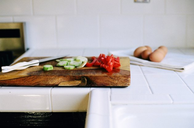Vegetable on cutting board