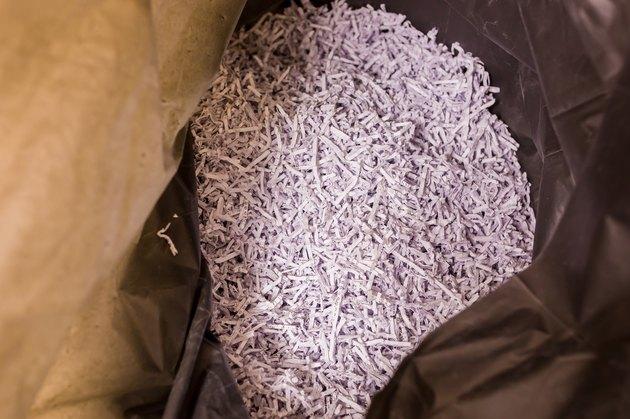 white shredded paper texture for background