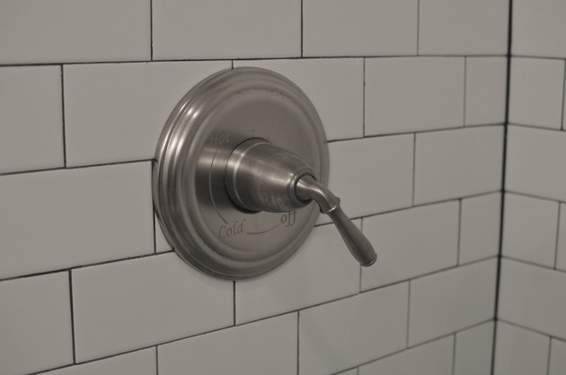 Close-up shower knob