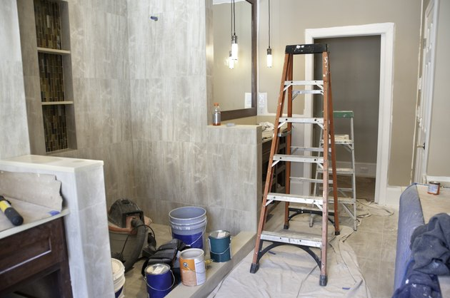Master bathroom in midst of remodeling