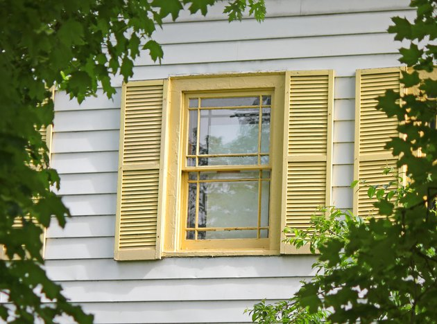 Siding, window, shutters.