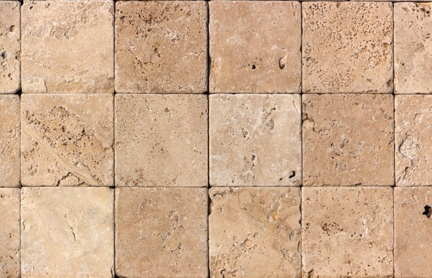 Wall of high quality travertine or thermolith. Blank for background or tile