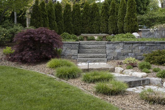 Professional Landscaping With Pavers and Boulders