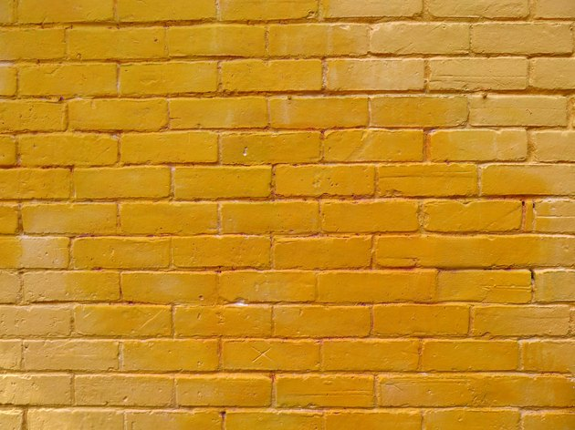 Colored bricks wall