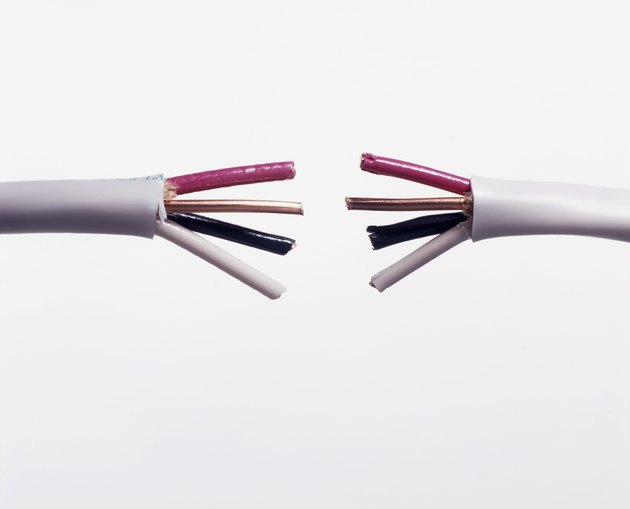 Electrical Cable Cut in Half