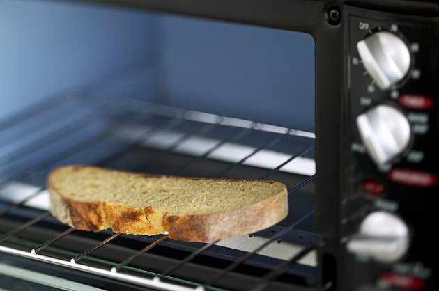 Bread in toaster oven