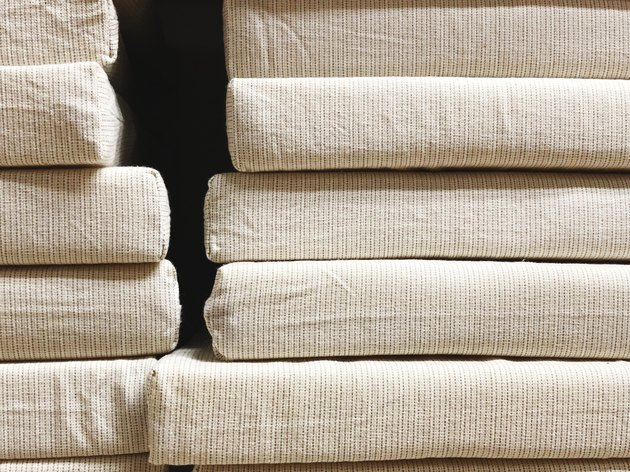 Soft cushions for chairs on the shelf in the store.