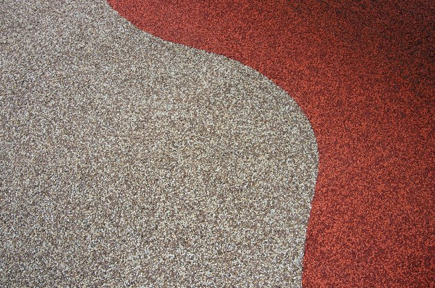 Wet pour granulated rubber (also known as softfall rubber) outdoor playground surface