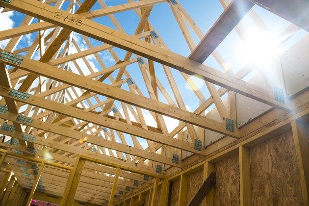 Wooden roof framing truss