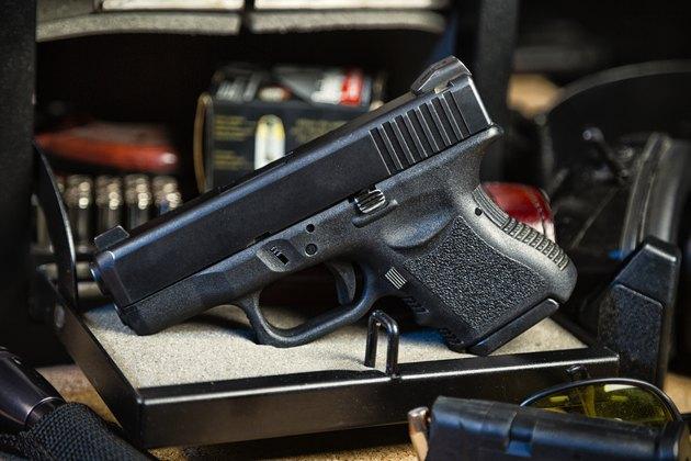 Handgun and Safe