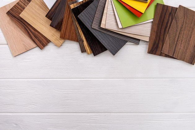 Wooden sampler close up on light background
