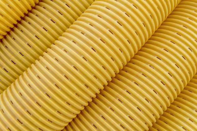 Yellow drainage pipe/