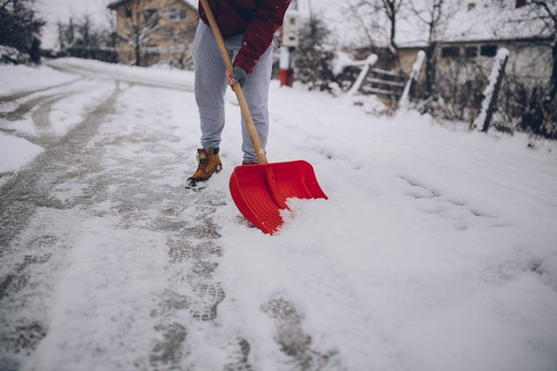 Snow cleaning day.