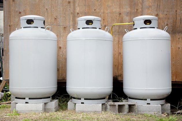 Three Propane Tanks