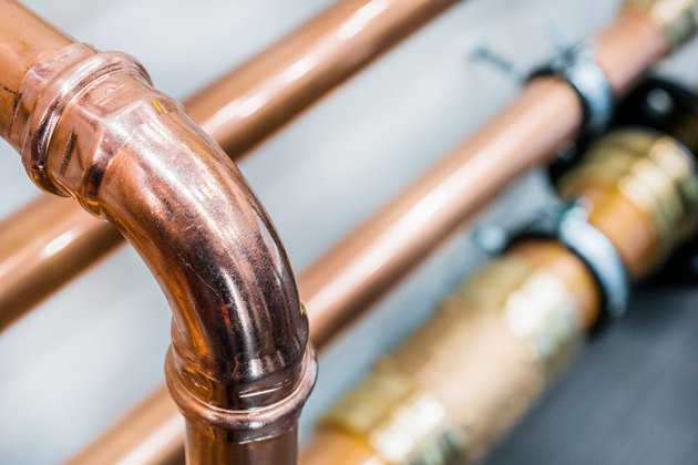 Brilliant new copper pipes
