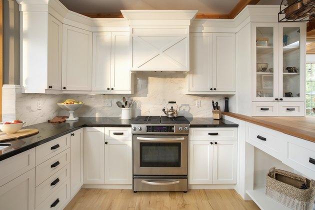 White home showcase interior kitchen