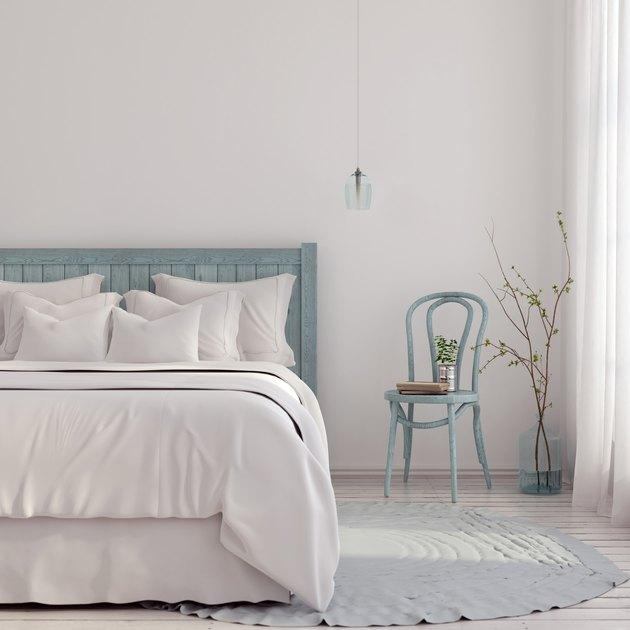 Light blue bedroom