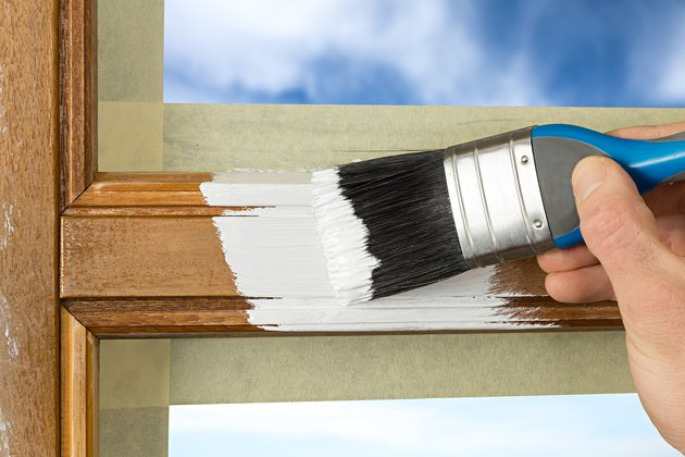 Painting wood window frame