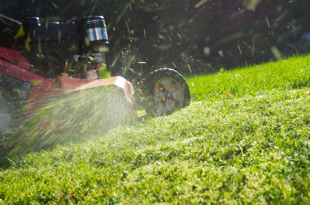 Close-Up Of Lawn Mower