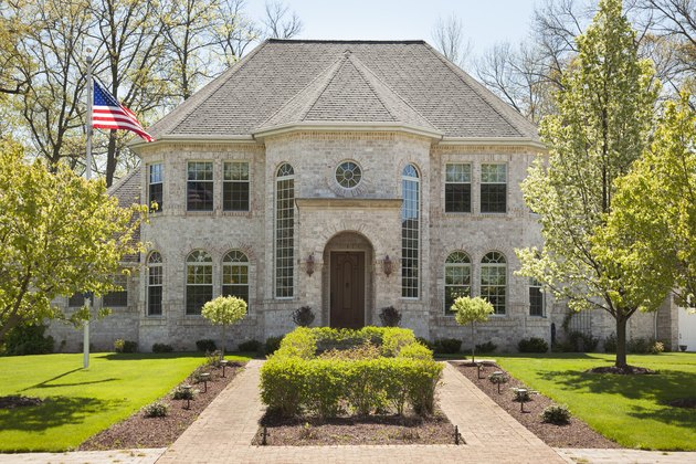 home with landscaped front yard,
