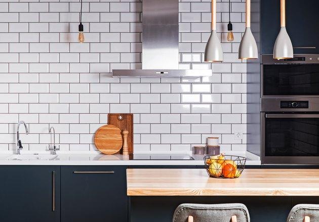 Modern interior. Spacious  kitchen