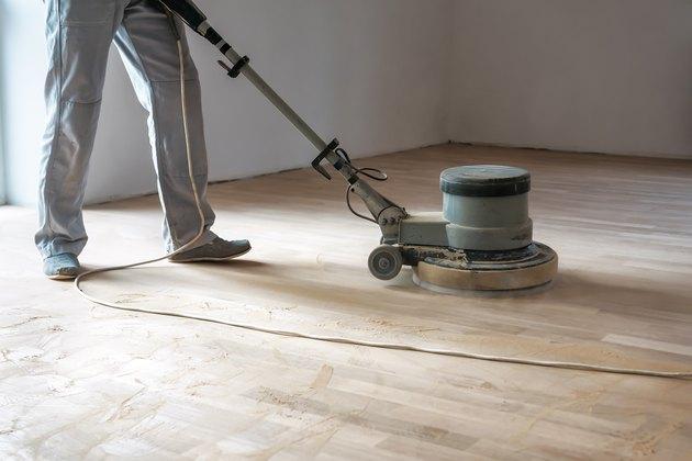 professional polishing machine polish the floor