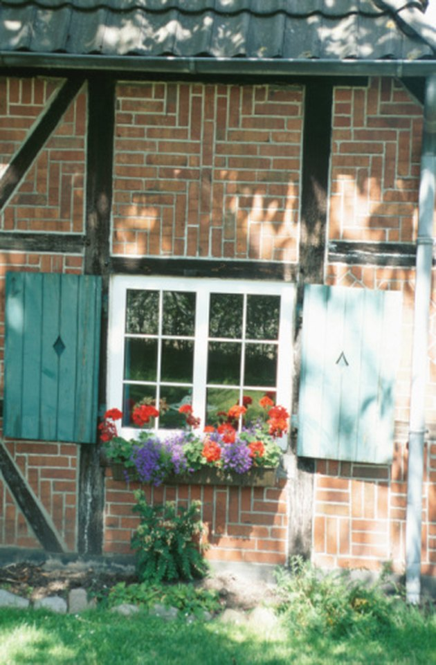 How To Mount A Window Box On A Brick House Hunker