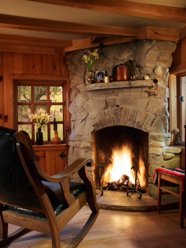 How To Brighten And Lighten A Stone Fireplace Hunker