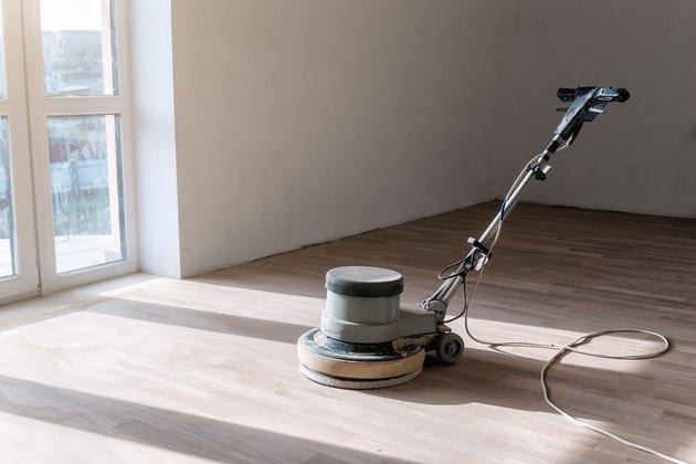 machine for polishing parquet