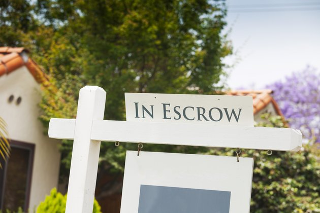 In Escrow sign