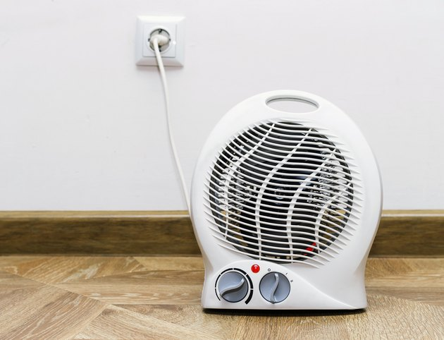 Electric fan heater at home.