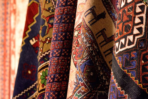 Group of turkish carpets.