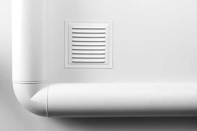 Square ventilation grille on white background