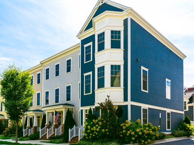 Row of Colorful Townhouses