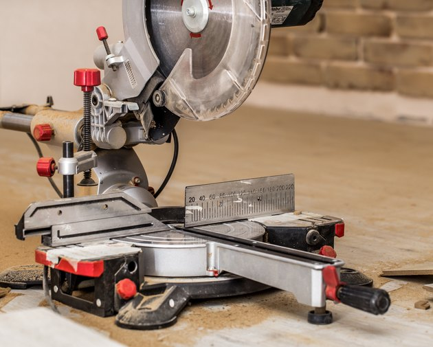 Board and miter saw.