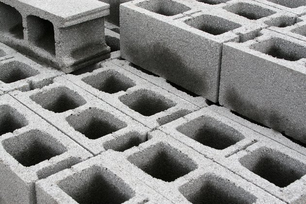 Concrete weight blocks for structure