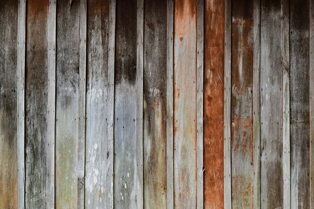 Rough weathered wood wall.