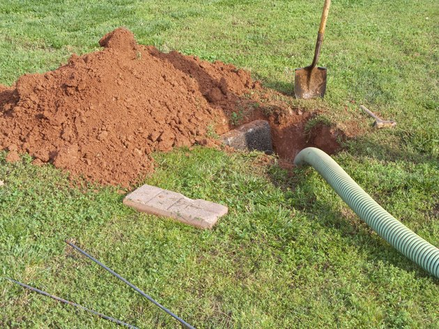 Open Septic Tank In Yard While Bring Pumped Out