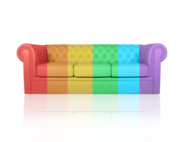 leather chester sofa colored in rainbow