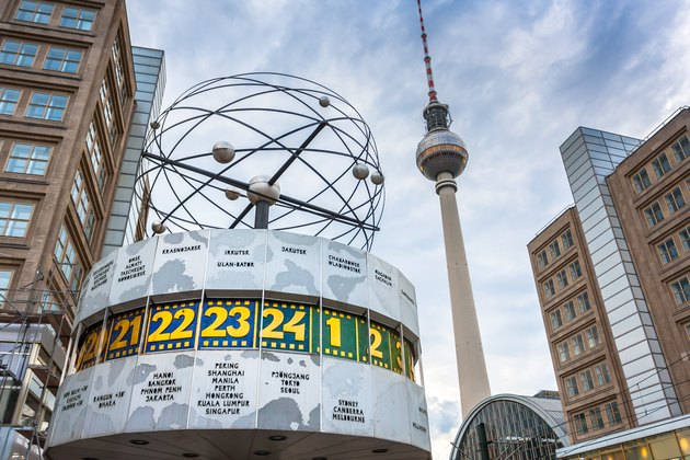 The Weltzeituhr (World Clock) at Alexanderplatz, Berlin