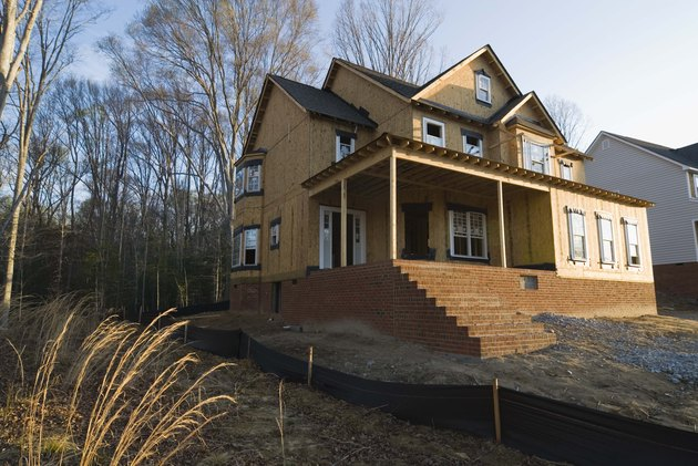 House construction site.